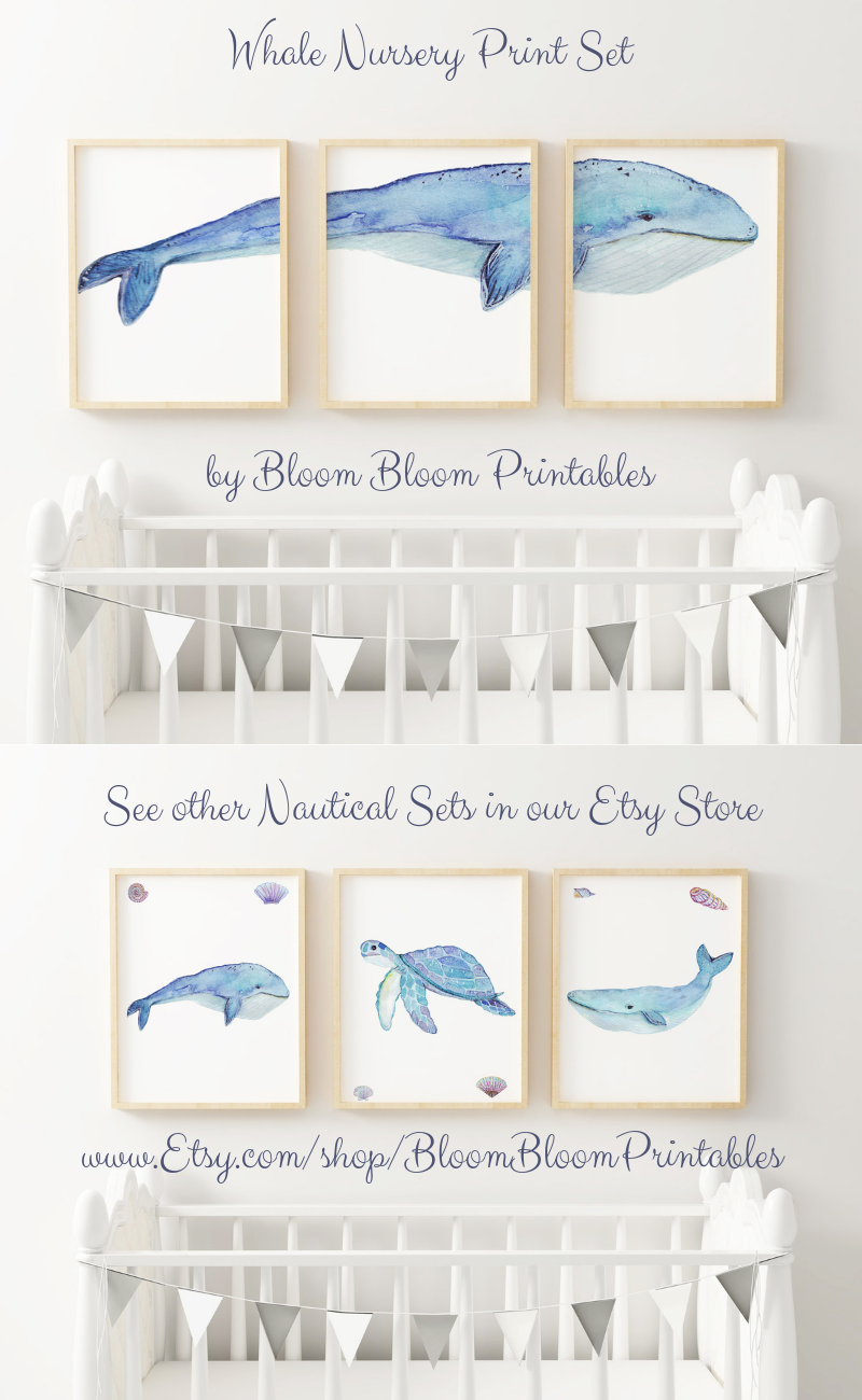 Whale Nursery Wall Art Set Of 3 Big Blue Whale Printable Set Etsy Whale Nursery Wall Whale Nursery Wall Art Whale Nursery