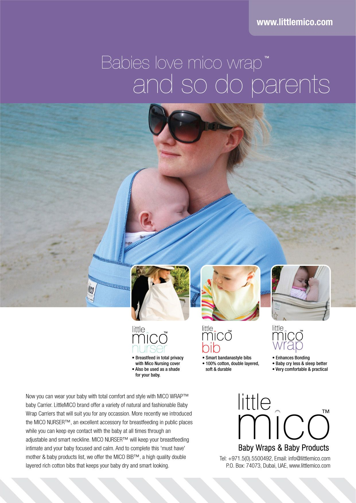 Littlemico Baby Wrap Carriers Nursing Cover Ad Advertising