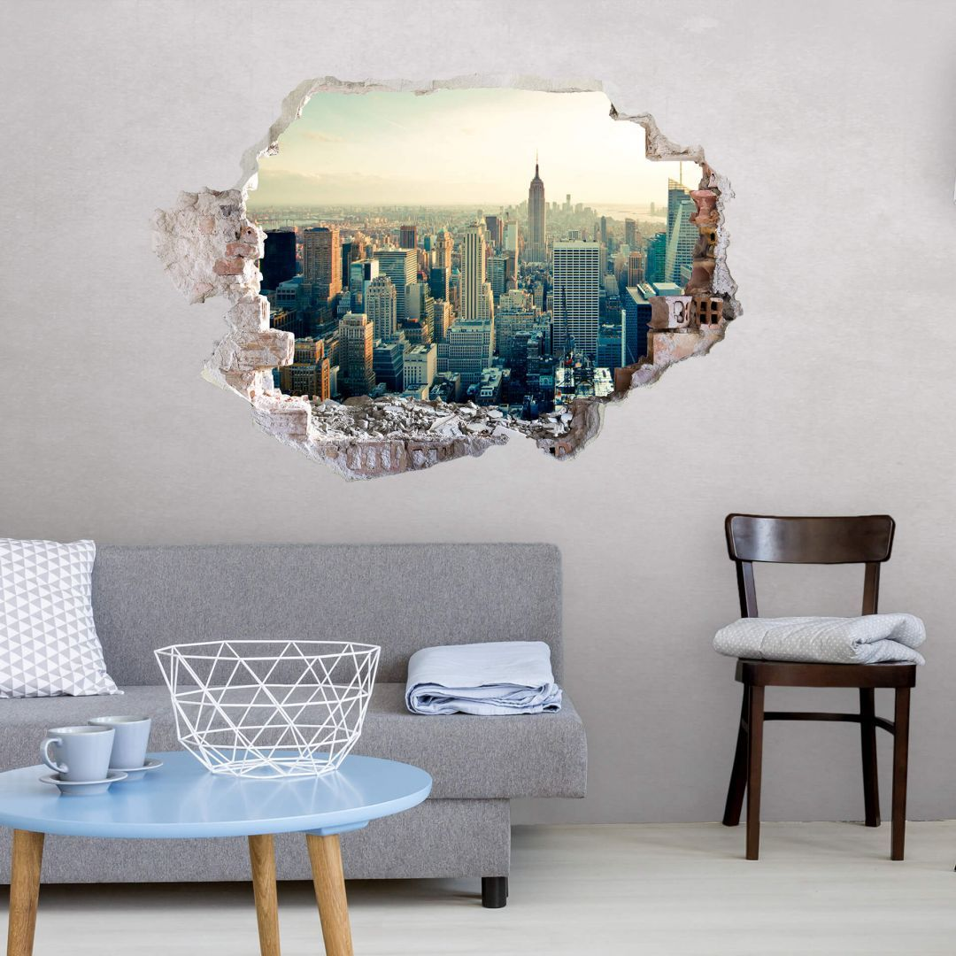 New York City Skyline Wall Decal New York Skyline Skyline Made Of High Quality Non Toxic And Eco Friendly Wall Wall Decals Large Wall Stickers City Skyline