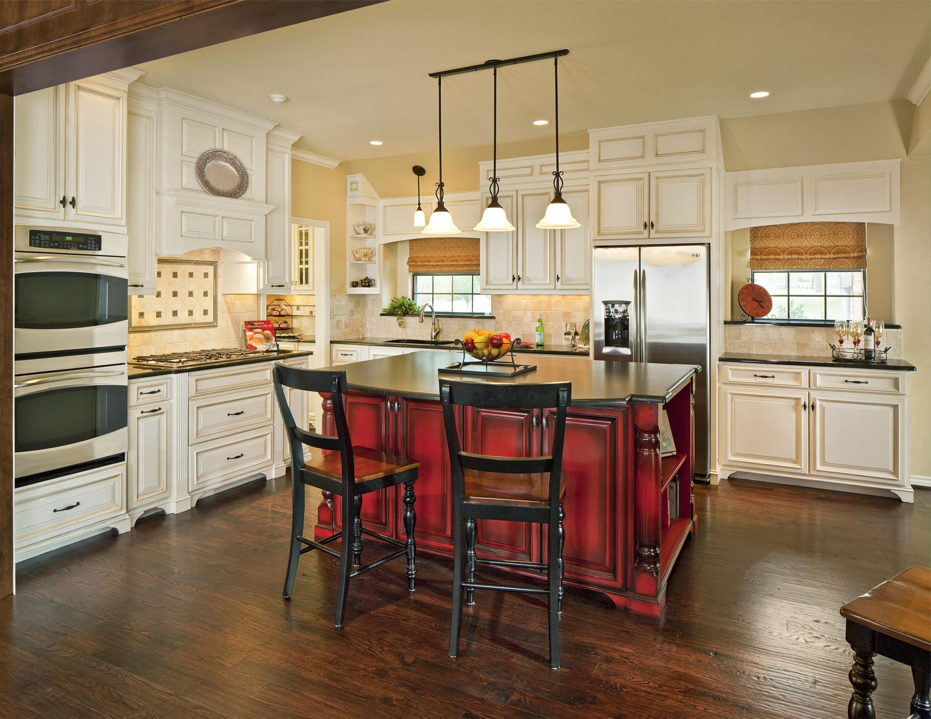 Rose red kitchen cabinets-in Kitchen Cabinets from Home ...