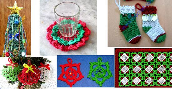 Navidad en crochet navidad crochet necklace crochet y for Adornos navidenos tejidos a crochet 2016