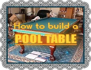 free pool table plans