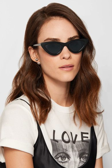 + Adam Selman The Last Lolita Cat-eye Acetate Sunglasses - Black Le Specs hlrZAd7SF7