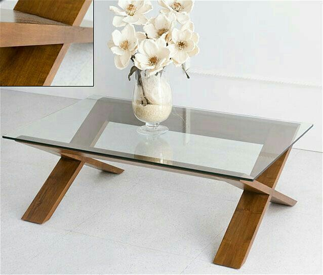 Diseño ligero en cristal y madera Projects to Try Pinterest - mesas de centro de diseo