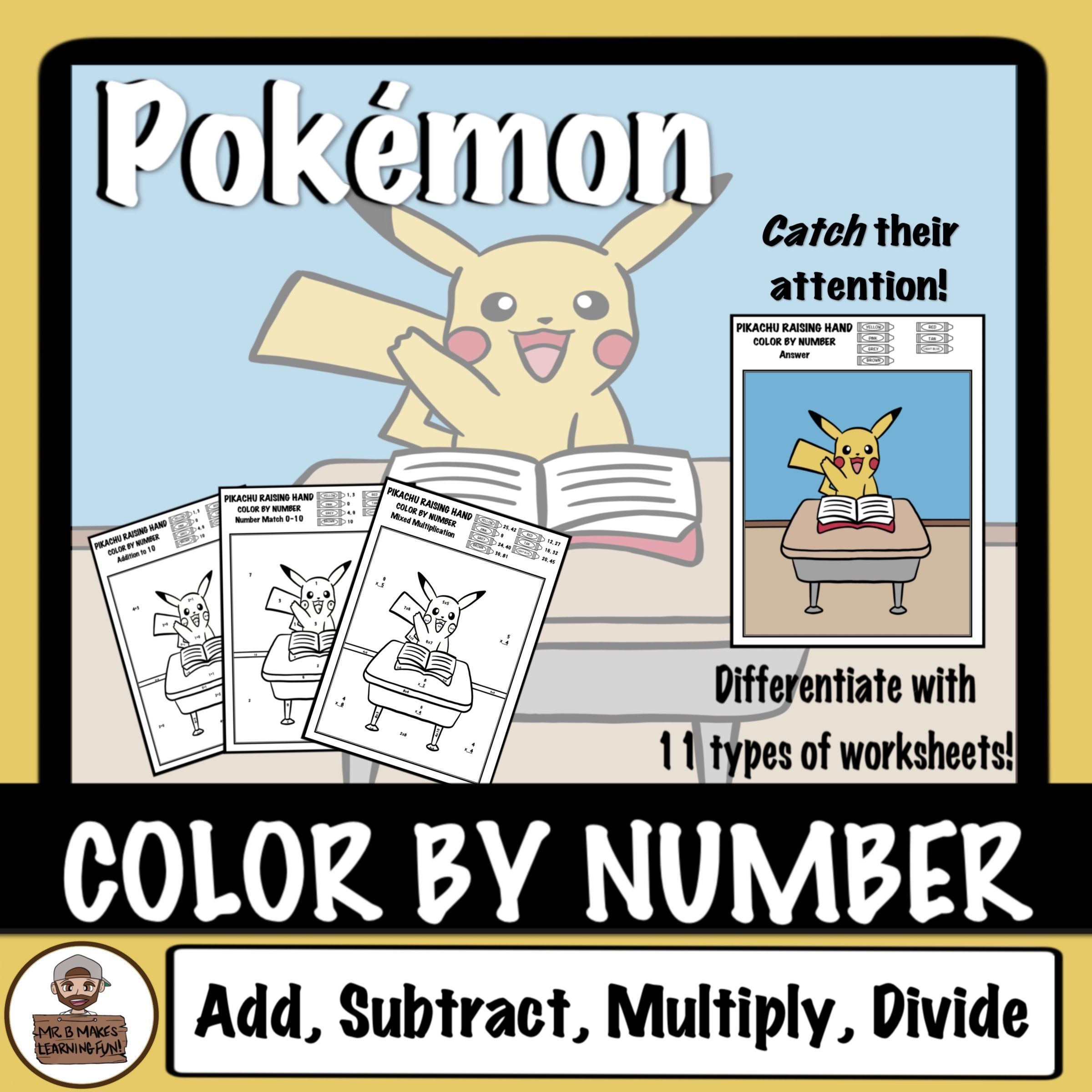 Color By Number Addition Subtraction Holiday Pack With T
