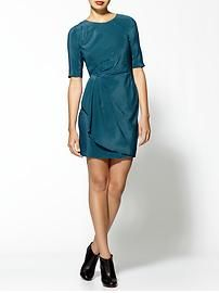 Rebecca Minkoff Vivien Silk Short Sleeve Stripe Dress