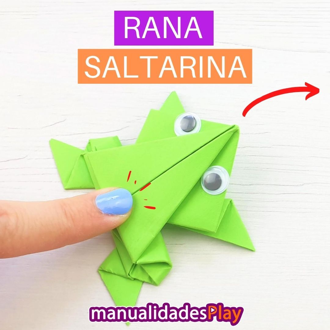 Rana Saltarina Papiroflexia Paso A Paso En 2020 Origami Facil Para Ninos Origami Facil Rana De Origami