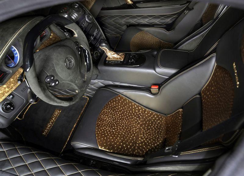 Interior Of Mercedes Benz Slr Mclaren Mansory Renovatio Gold
