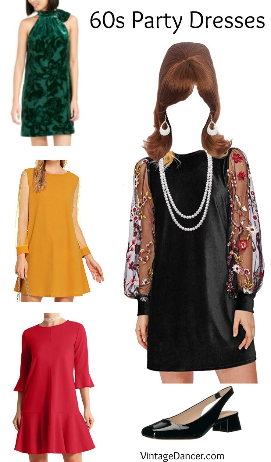 1960s Outfit Ideas Mod Hippie Casual Housewife Party Cocktail Dress Outfit Party Dress Outfits Groovy Fashion [ 1513 x 889 Pixel ]