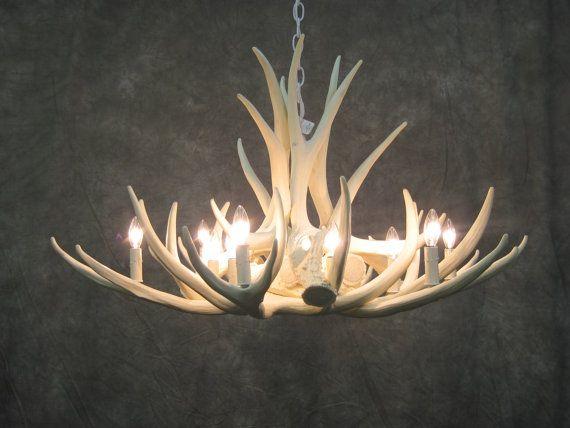 White antler chandelier faux deer antler chandelier d9 pinterest hey i found this really awesome etsy listing at httpetsy listing159688711antler chandelier deer antler chandelier aloadofball Gallery
