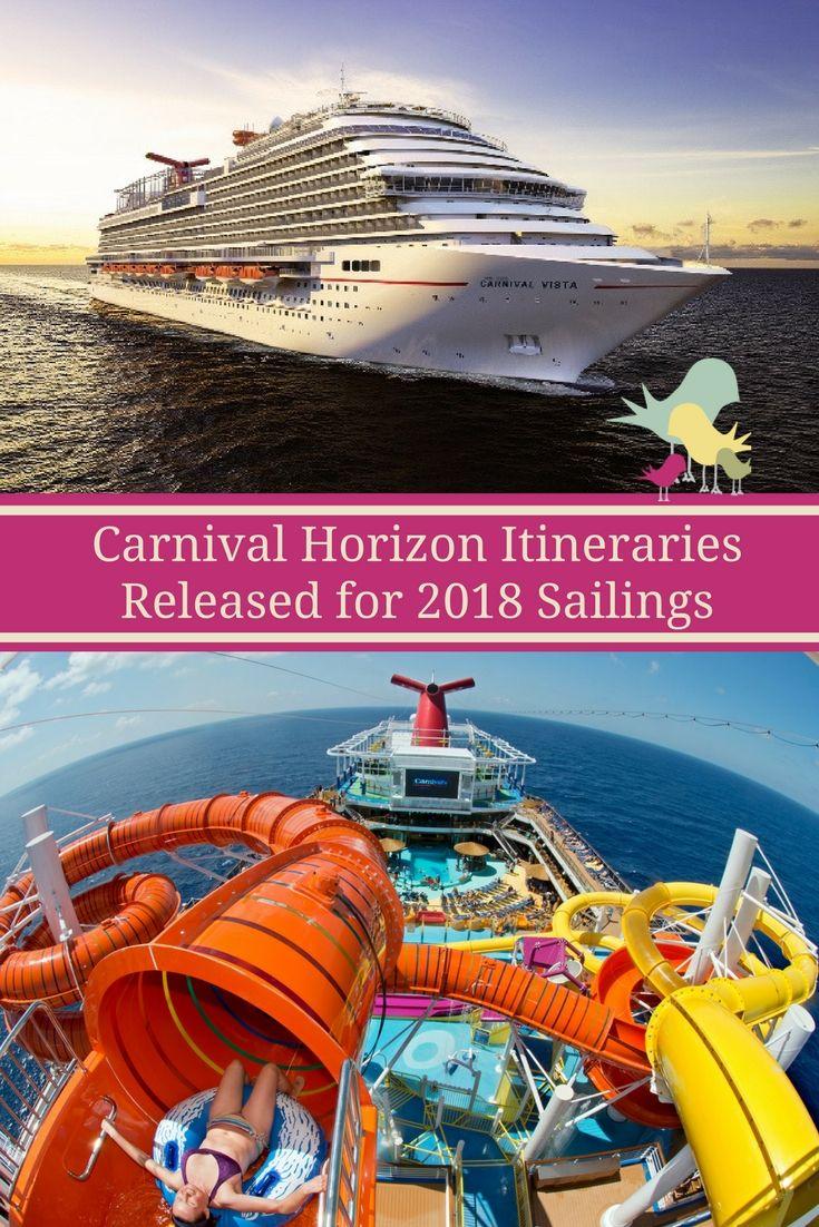 Carnival Horizon Itineraries Released For 2018 Sailings