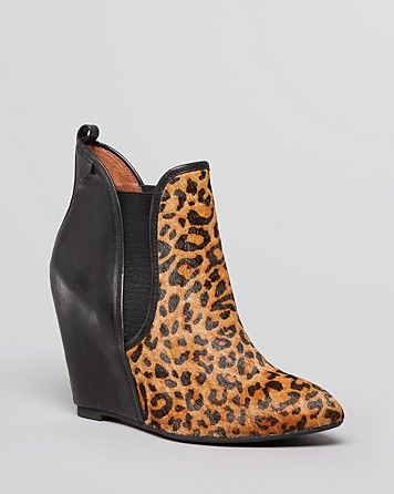 8039498bd56 Jeffrey Campbell Pointed Toe Wedge Booties - Harrison Leopard Print ...