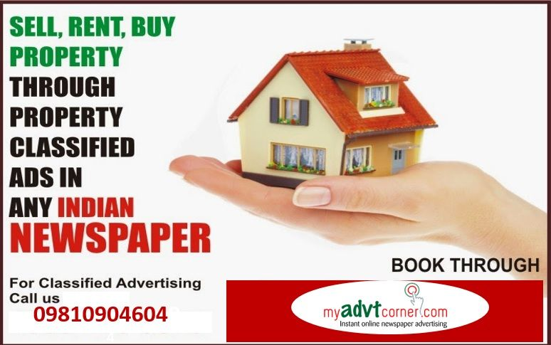 Book #Property_Advertisement in Any Indian Newspapers at Discounted