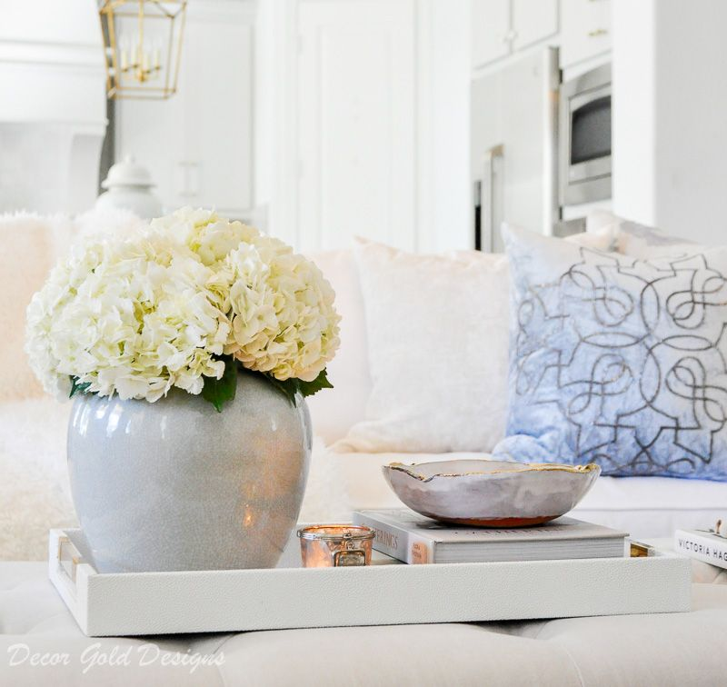 Winter Home Tour Winter House Coffee Table Decor Tray Decorating Coffee Tables