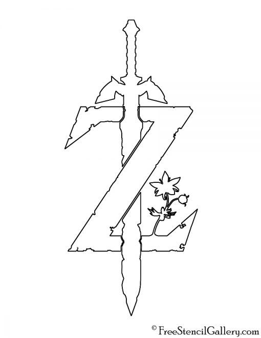 Zelda Breath Of The Wild Logo Stencil Zelda Tattoo Legend Of Zelda Tattoos Zelda Logo