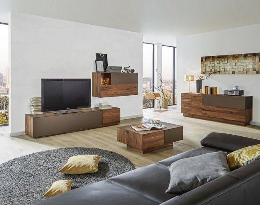 Wohnwand von DIETER KNOLL - ein Traum aus Nussbaumholz Wohnwände