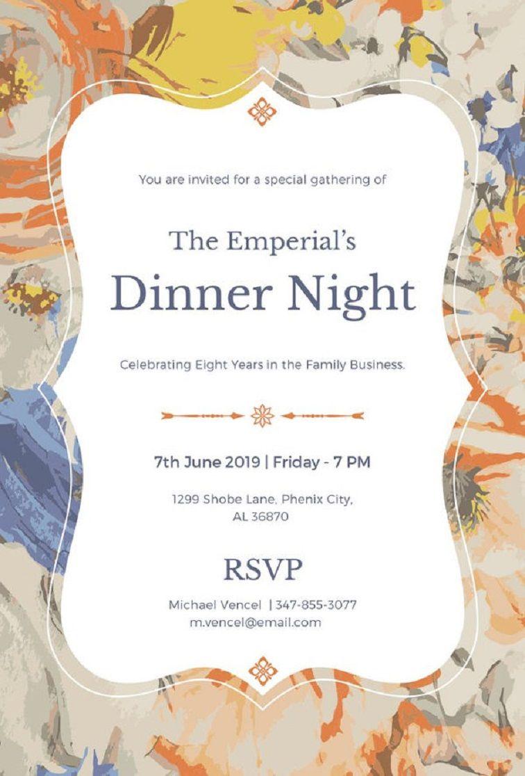 birthday dinner invitation templates  Dinner invitation wording