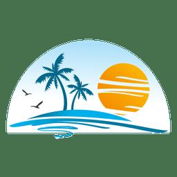Pin By Les Hare On Bullet Journal Beach Logo Sunset Art Travel Logo