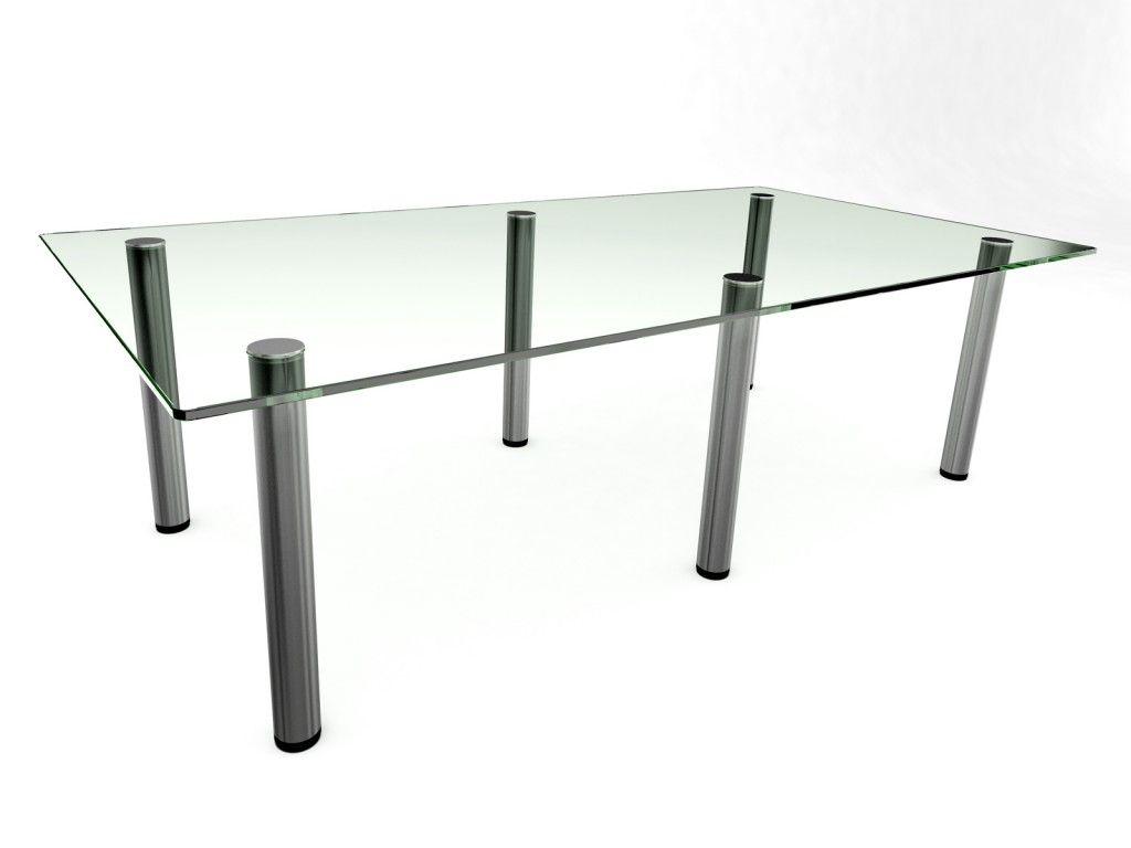 Prestige Glass Boardroom Table 2400. Glass Desks.