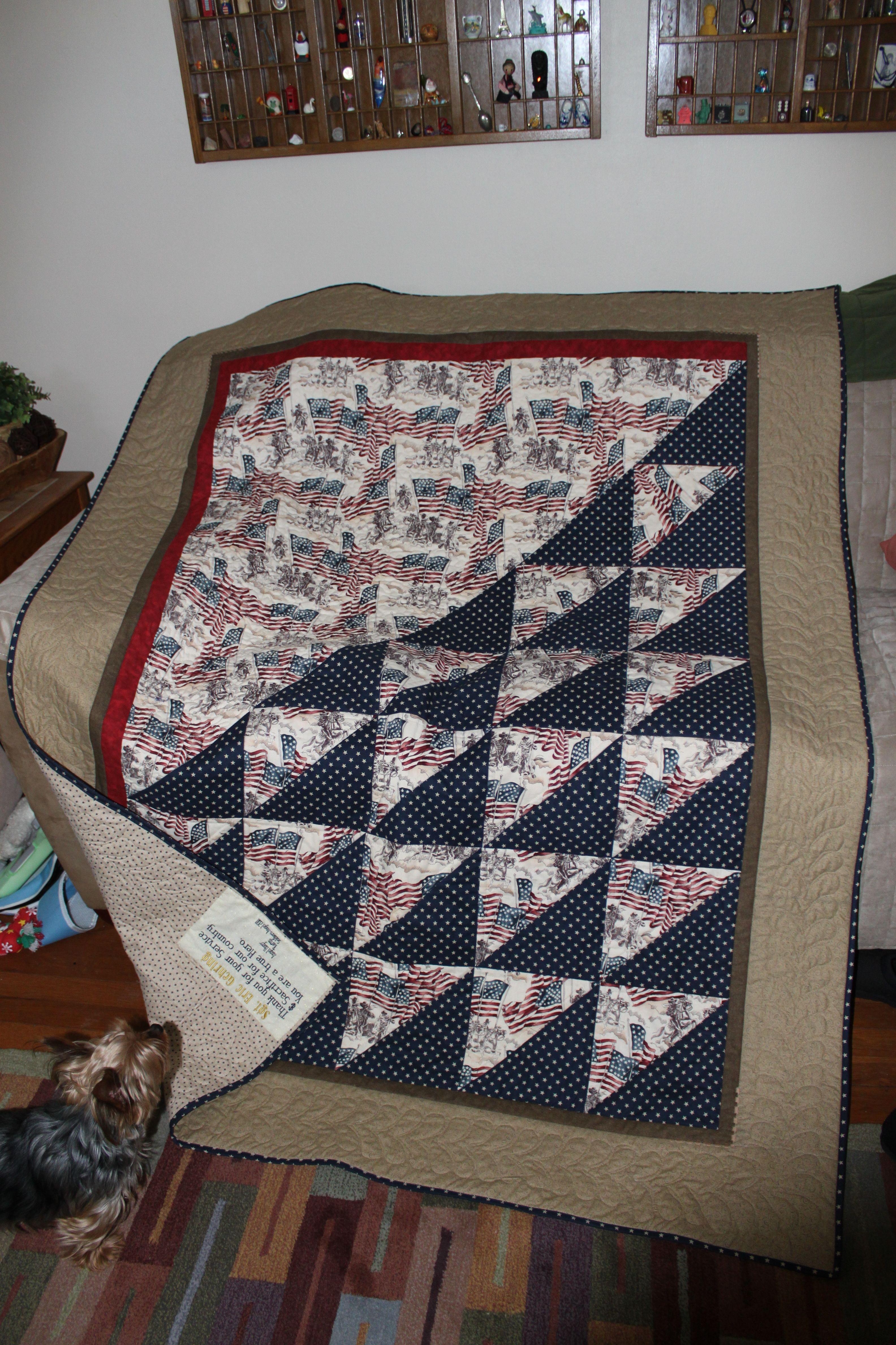 A Patriotic Soldier Quilt | HST | Pinterest | Patriotic quilts ... : quilts for soldiers - Adamdwight.com