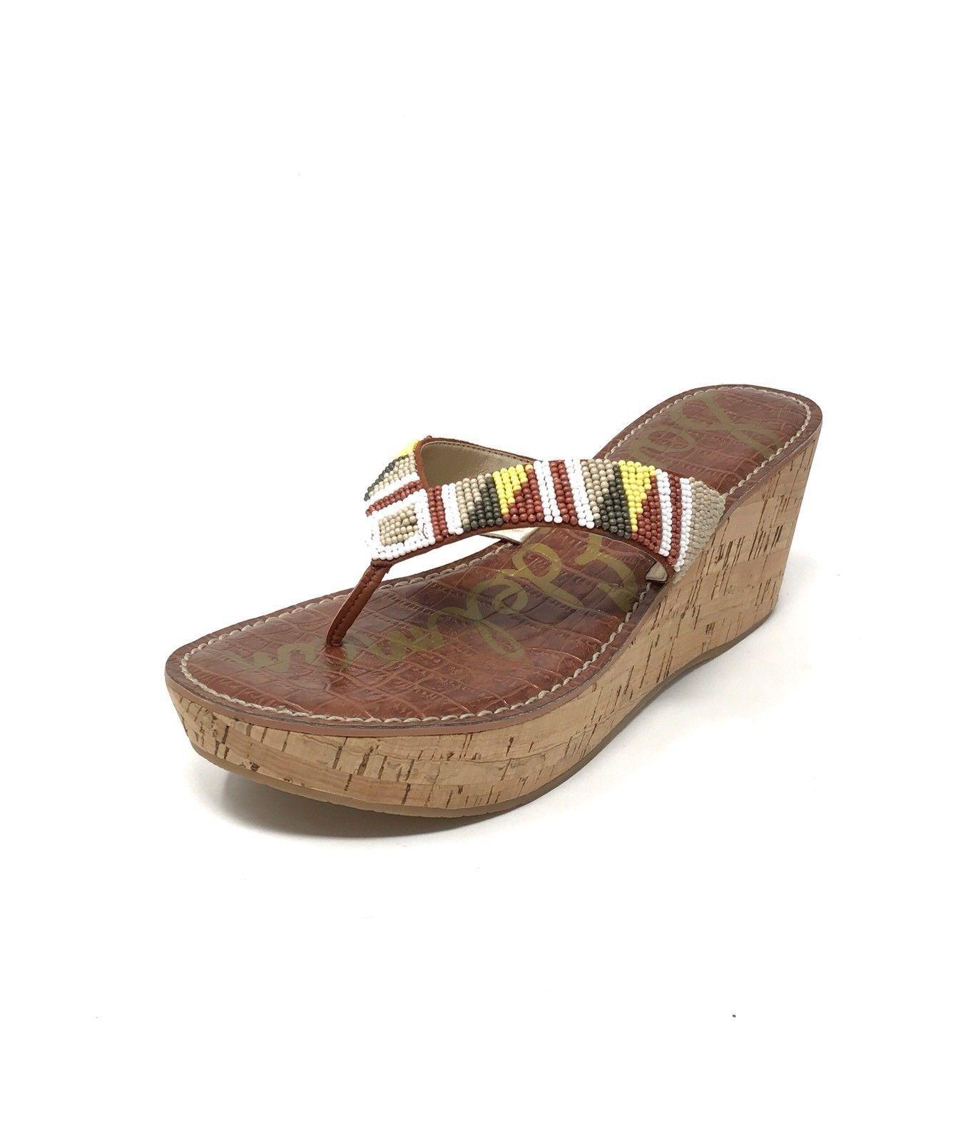 2866ea73fa52 59.00 USD ❤ SAM EDELMAN Beaded Platform  ROSA  Sandal- Cork Wedge Thong