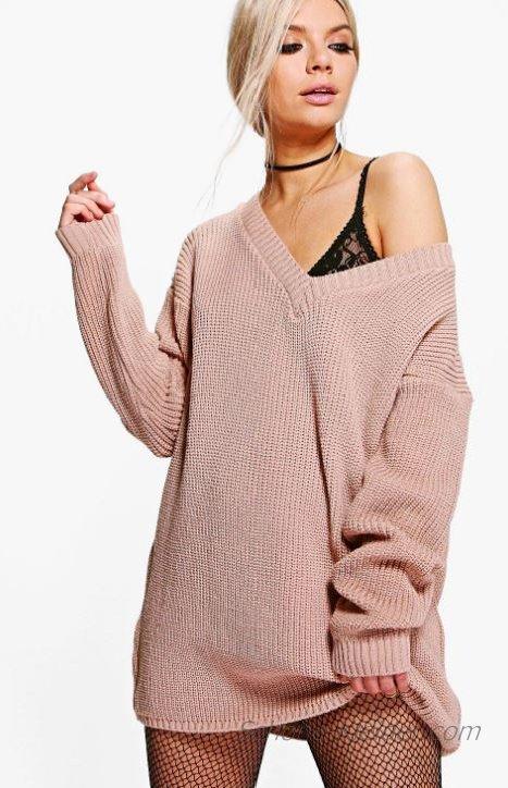 2019 Strickkleid, Modetrends für Winterkleider Damen ...