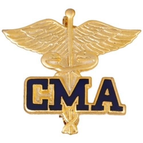 Certified Medical Assistant Pin CMA Caduceus Emblem