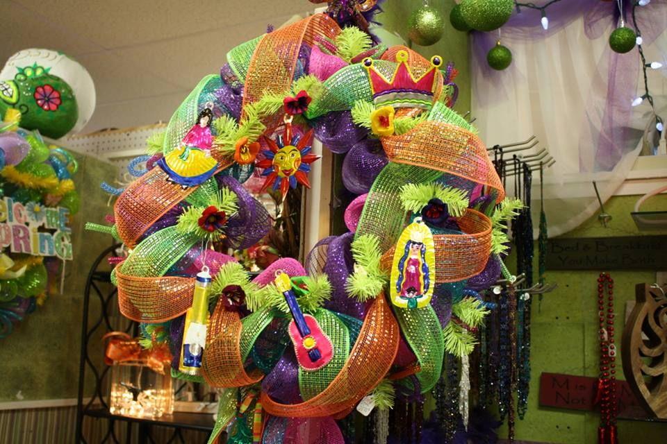 Fiesta wreaths at homestead handcrafts san antonio texas