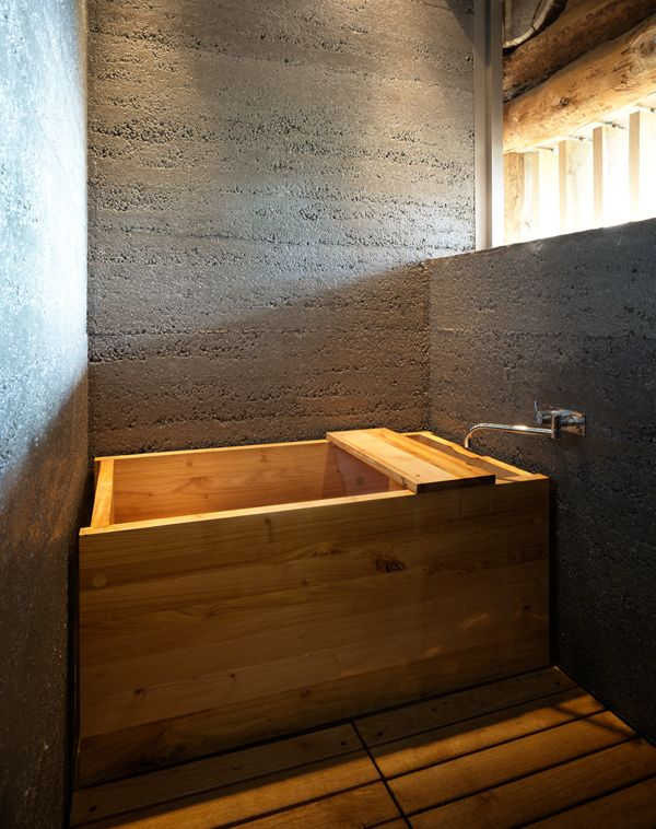 A japanese style wooden bathtub in a Swiss farm | maximum ...