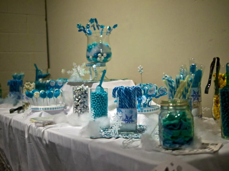 Candy Table Winter Wonderland Themed Sweet 15   My ...