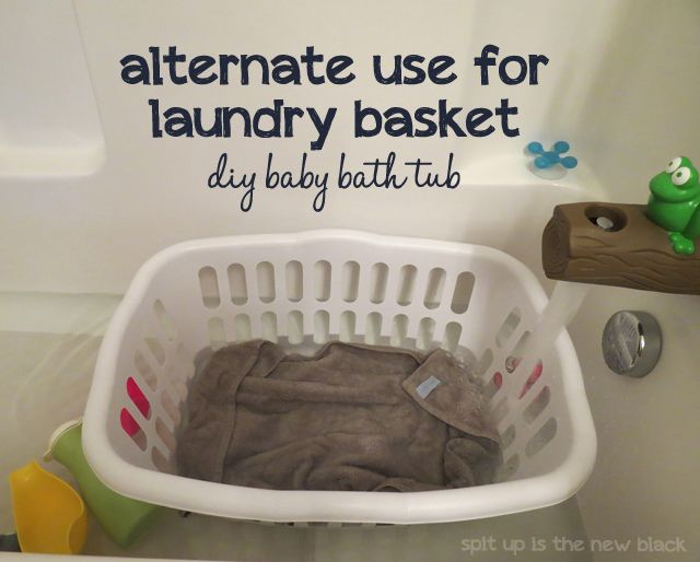 Use a laundry basket for a squirmy wormy baby that can sit up on ...