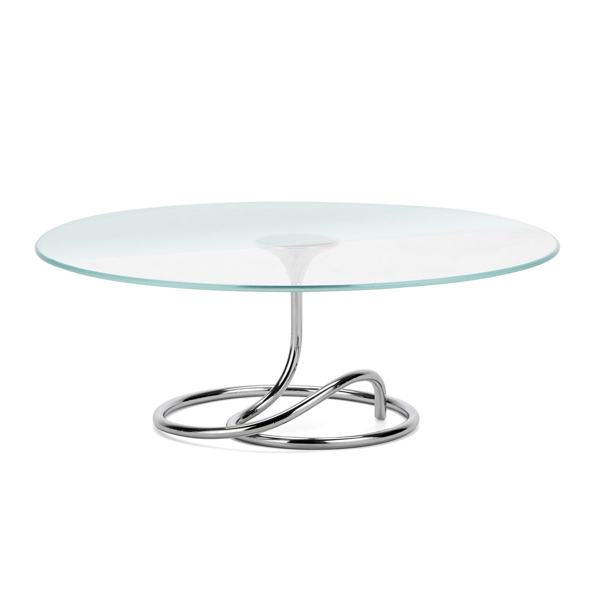 LOOP CAKE STAND | Glass & Metal Dessert Plate | UncommonGoods