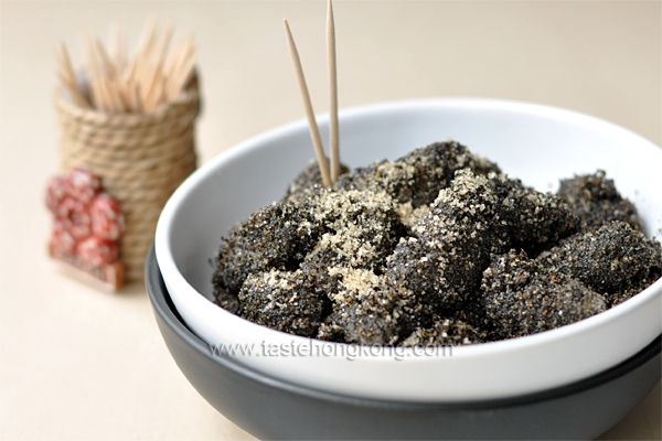 Chinese Mochi with Black Sesame Seeds | Delish--East Asian