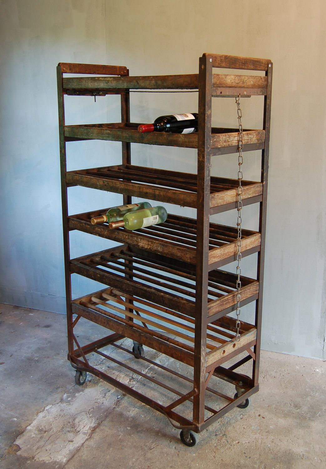 Factory caster vintage industrial furniture - Vintage Factory Shoe Rack