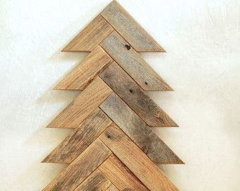 barn wood christmas tree herringbone pattern