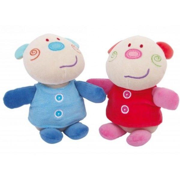 Lulu e Fred Due bambole realizzate in tessuto morbid, con volti ricamati.