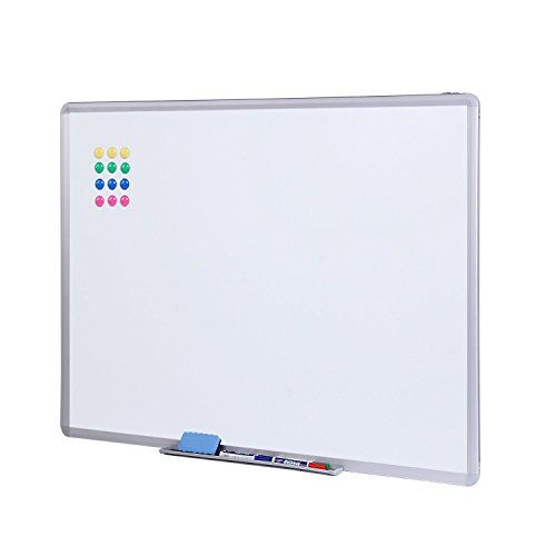 NOSIVA Dry Erase Board 48 x 36 Inches Magnetic Whiteboard Silver ...