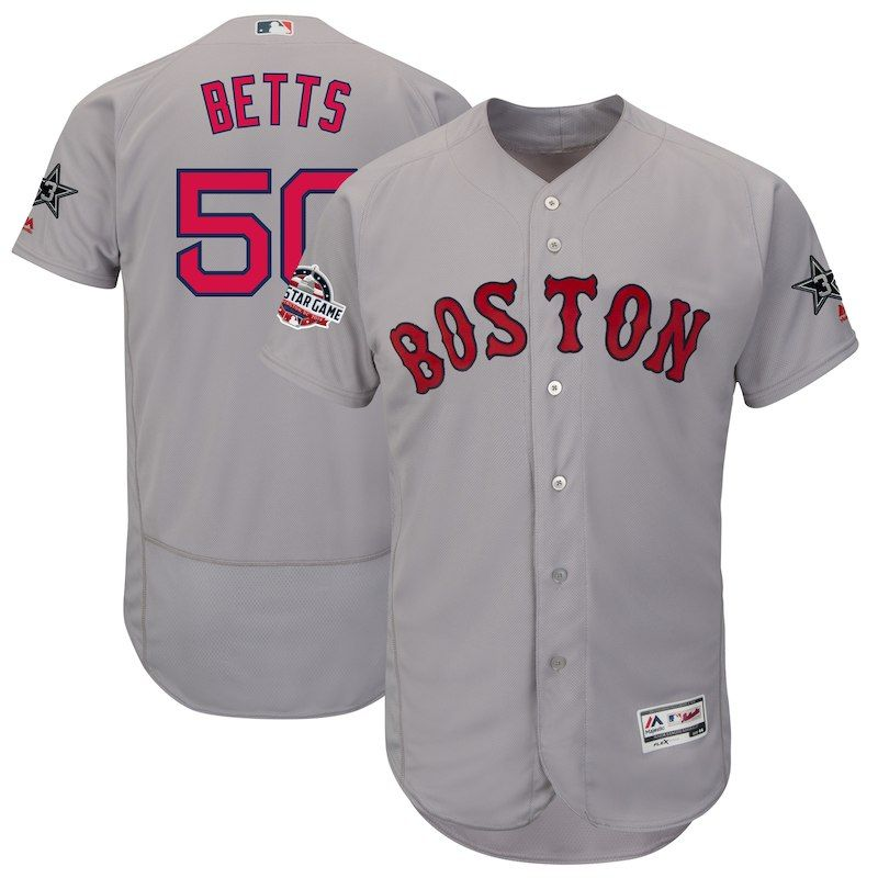 8e44f9ec6bf Mookie Betts Boston Red Sox Majestic 2018 MLB All-Star Game Authentic Flex  Base Player Jersey – Gray