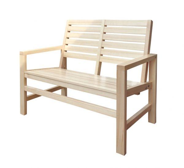 Contemporary Vanilla Hardwood 40 Inch Outdoor Garden Bench Outdoor Garden Bench Contemporary Outdoor Benches Wooden Garden Benches