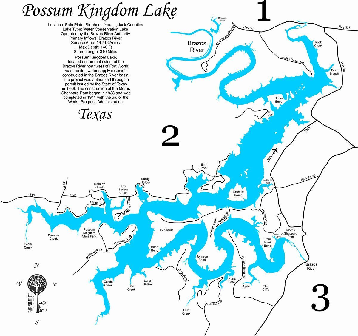 map of possum kingdom lake Pin On Lake Living map of possum kingdom lake