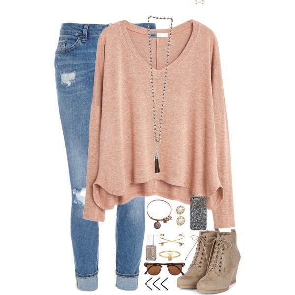 Ein Fashion-Look ab Oktober 2015 mit MANGO-T-Shirts River Island-Jeans sowie Alex- und Ani-Armbändern. Looks zum Stöbern und Einkaufen. #fashion2015