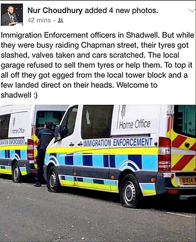 Welcome To Shadwell: Gang Sabotages Immigration-raid Vans