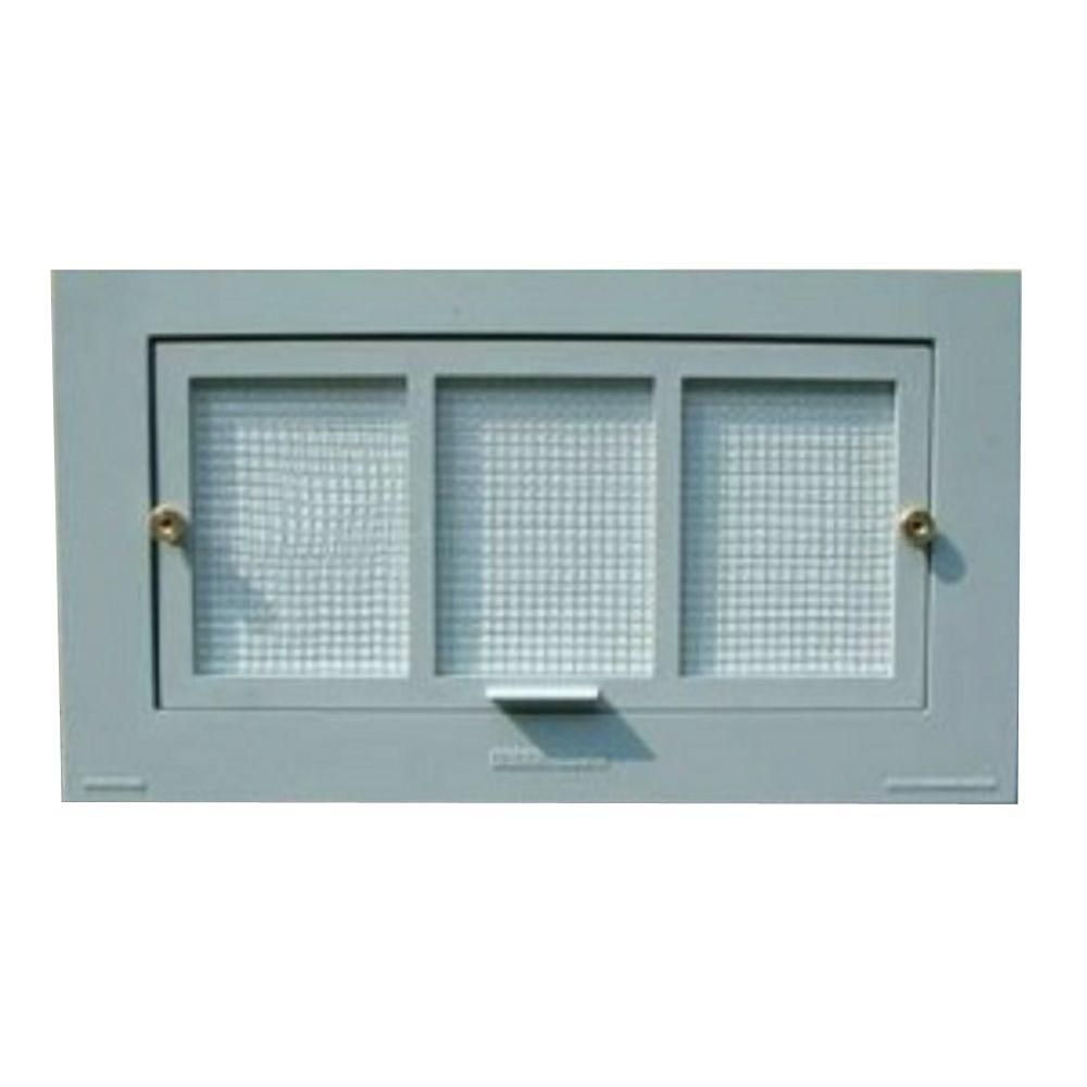 Battic Door Energy Conservation Products 16 In X 8 In Energy Efficient Foundation Vent In Grey Gray Crawl Space Foundation Crawl Space Vents Vent Covers