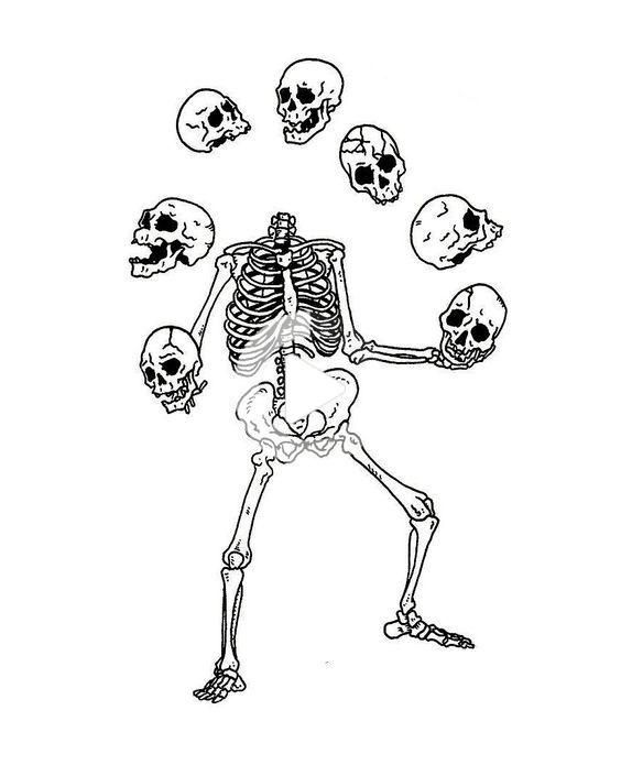 Pin by Ash on Black and White Backgrounds | Skeleton art, Sketches, Ta