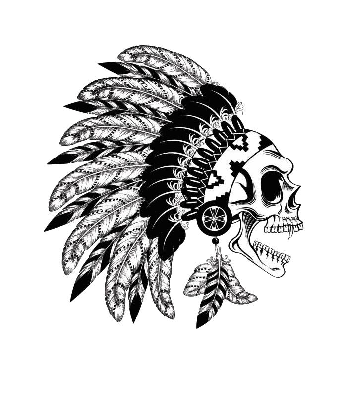 American Indians Png Image Indian Skull Indian Skull Tattoos Skull Artwork
