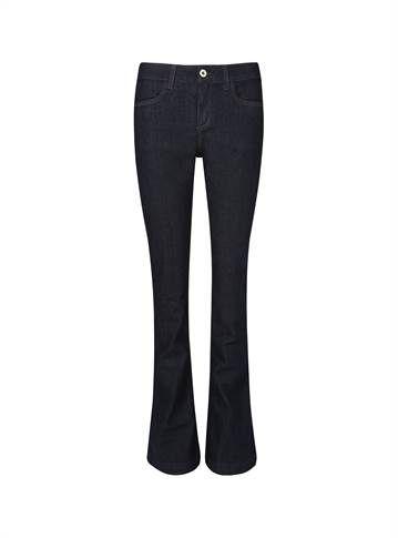 Calça flare feminina jeans escuro - Visite Riachuelo.com.br