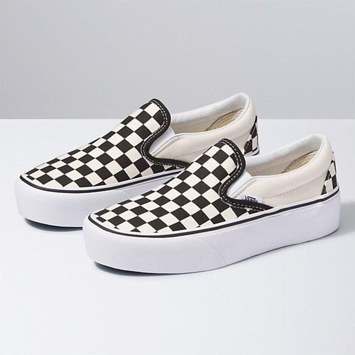Vans Slip-On Checkered Platform Shoes