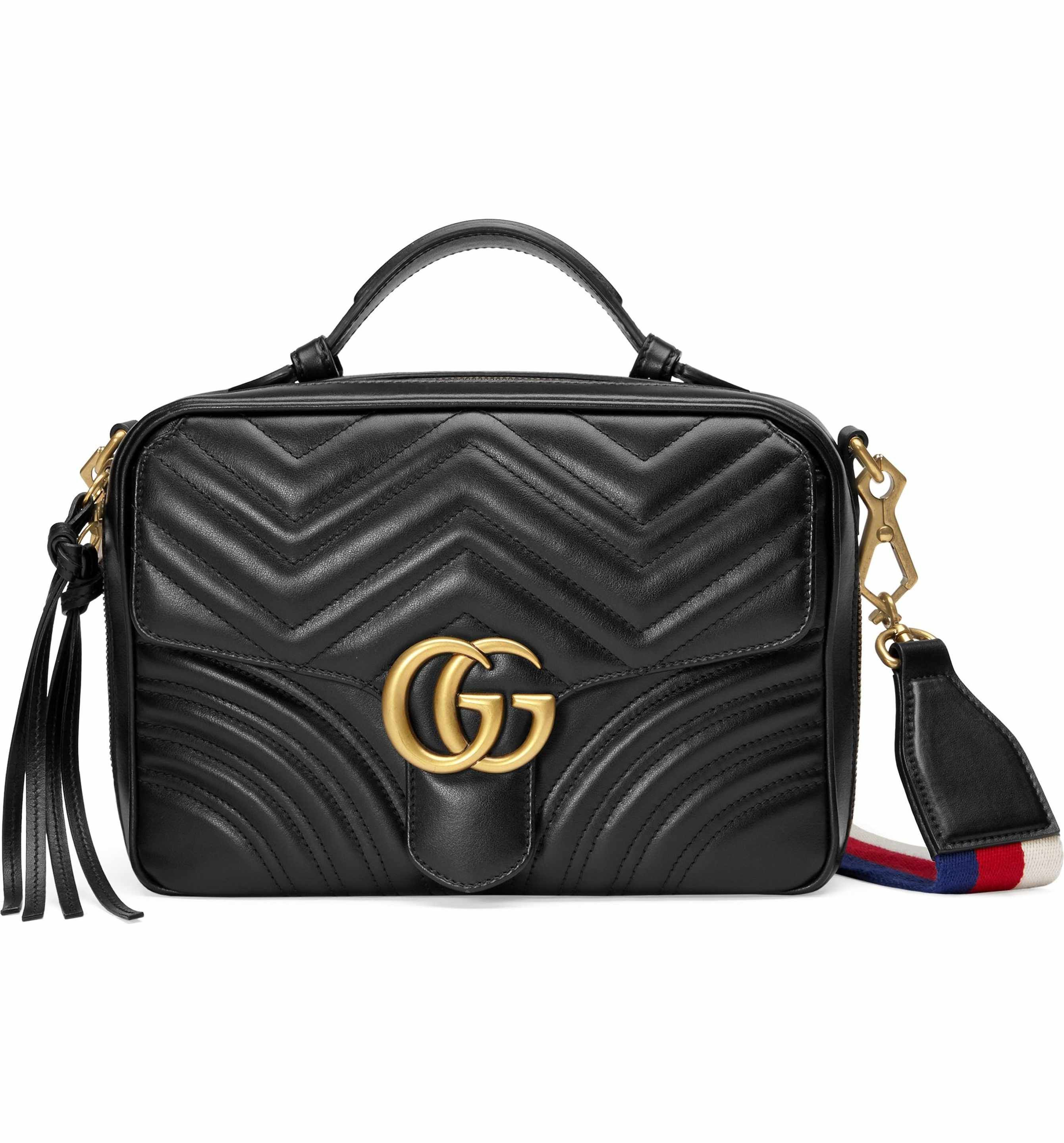 7d805bf224d Main Image - Gucci Small GG Marmont 2.0 Matelassé Leather Camera Bag with  Webbed Strap