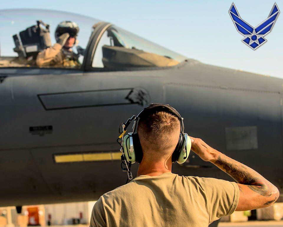 Airman Pilot Takeoff Salute Airman Air Force Pilot