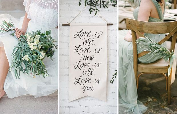 The new rustic herb greenery wedding decoration ideas